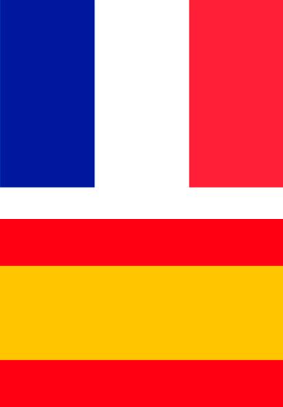banderas de francia y españa
