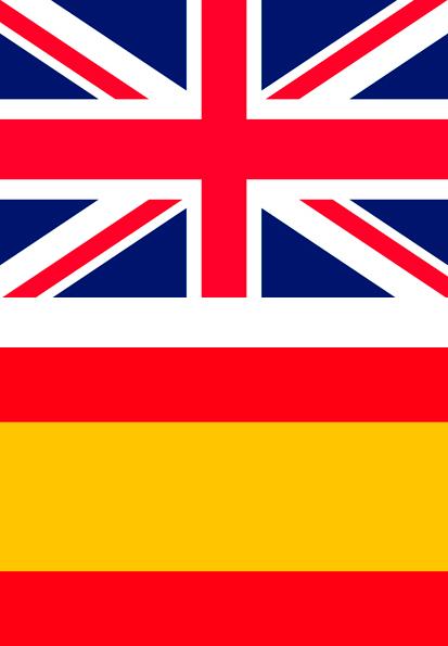 banderas de reino unido y españa